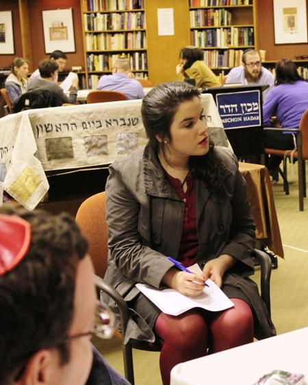 Y.U. student Dasha Sominski is a Hadar regular / by David A.M. Wilensky