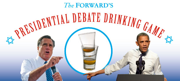 The Forward helps you get drunk during tonight's presidential debate (CC Forward.com)