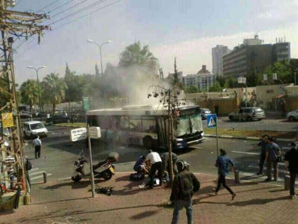 Bus bombing in Tel Aviv today