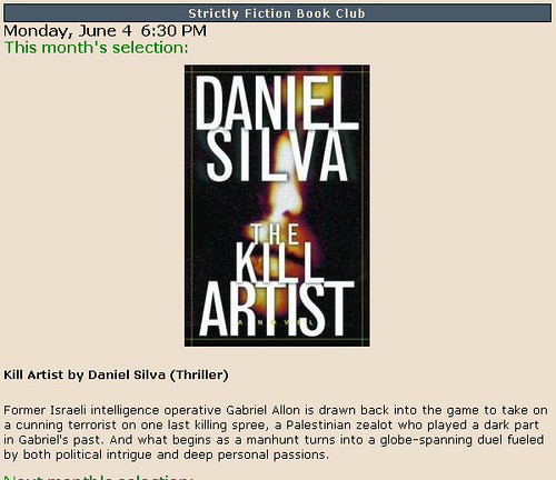 "Silva's ""The Kill Artist"" is the first in his long-running Gabriel Allon series. 