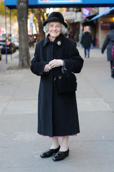 "We can learn a lot from our elders. This woman's advice is ""Be nice and like people!"" [cc Humans of New York]"