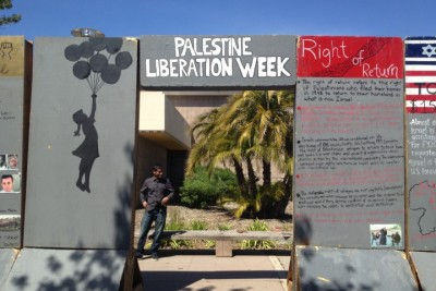 BDS advocacy at UC-Santa Barbara. Credit: thebottomline.as.ucsb.edu