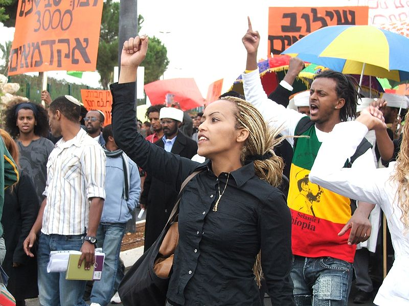 Ethiopian Jews demonstrating for equal rights in Israel. | CC via Wikimedia Commons