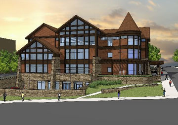 Proposed design of the new Rutgers Hillel | via NJ Jewish News