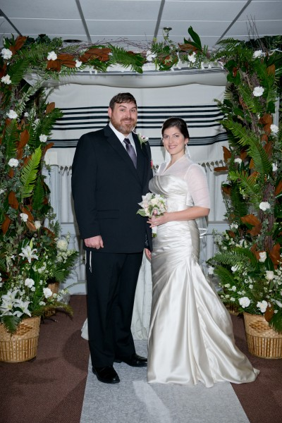 Tim and his wife Avi at their wedding Dec. 22, '13