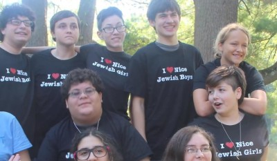 The 2012 Keshet LGBTQ Teen and Ally Shabbaton. Amram is on the top right,