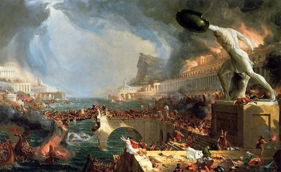 The Course of Empire Destruction, 1836 by Thomas Cole | via Wikipedia