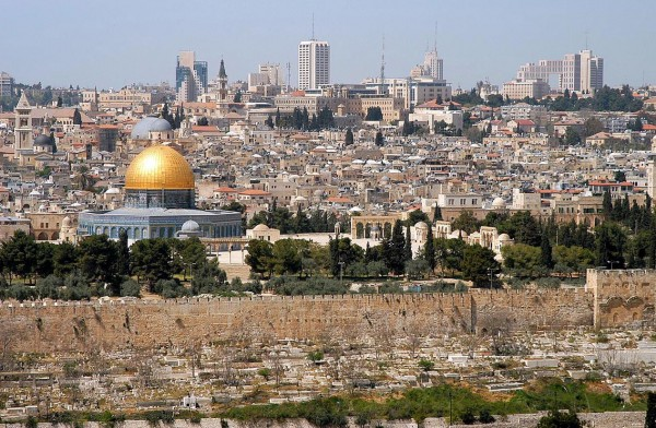 Jerusalem from the Mountain of Olives   CC via Wikimedia Commons