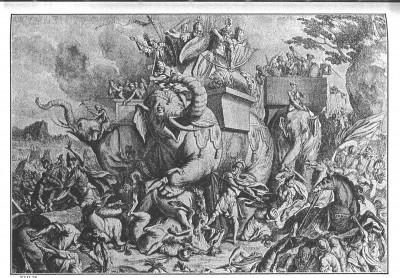 Martyrdom through stabbing elephants: What actually happened on Hanukkah.  | CC via Wikimedia Commons