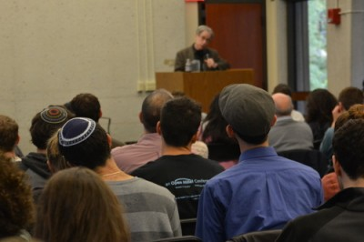 The back of the reporter's head at the Open Hillel Conference | via openhillel.org