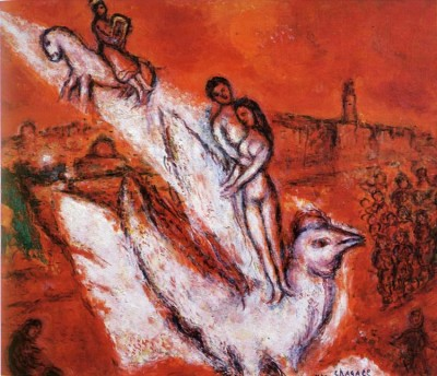 """Song of Songs"" by Marc Chagall. Oil on canvas, 1974"