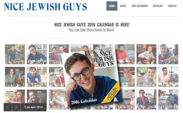 The official website of the Nice Jewish Guys calendar. | Via nicejewishguys.net