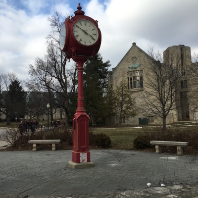 The clock tower at Indiana University, where Samantha Levinson saw a Muslim student harassed. | Photo by Samantha Levinson