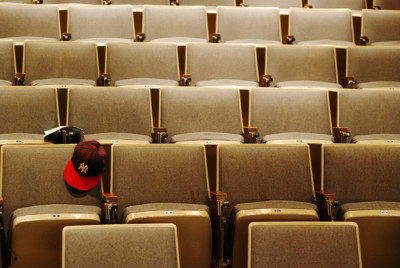 An empty lecture hall at UMBC| By Seth Sawyers [CC BY 2.0], via Creative Commons