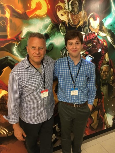 New Voices writer Josh Weiss meets actor Paul Reiser. | Via Josh Weiss